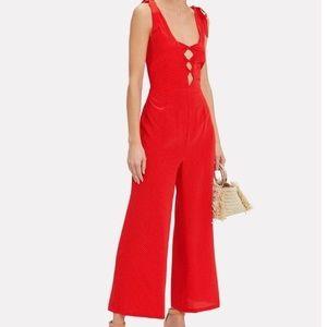 Intermix Silk Red Jumpsuit